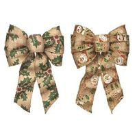 BOW 7 LOOP WIRED ASST BURLAP