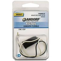 Jandorf 60565 Lamp Socket With 6 in Wire Leads