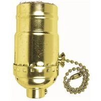 Jandorf 60411 3-Way Pull Chain Lamp Socket