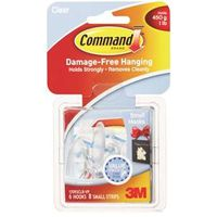 Command 17092CLR-VP Small Wall Hook