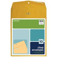 ENVELOPES CLASP BRN 9X12IN