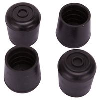 LEG TIP RUBBER 1 INCH BLACK