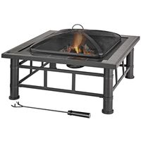 FIREPIT TILE-TOP SQ STEEL 30IN