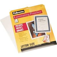 Fellowes 52005 Letter Size Laminating Sheet