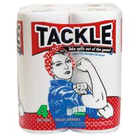 TACKLE 4 ROLL WHITE PAPER TOWE
