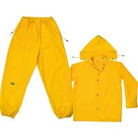 RAIN SUIT POLY YELLOW 3PC MED