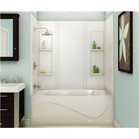 TUB SURROUND 59IN ACRY WHT 5PC