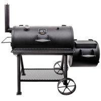 SMOKER OFFSET BBQ CHARCOAL BLK