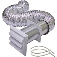 Lambro 1377W Louvered Dryer Vent Kit