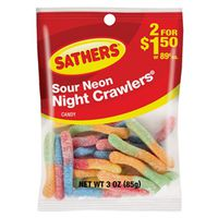 Sathers 10127 Non-Chocolate Sour Neon Night Crawlers