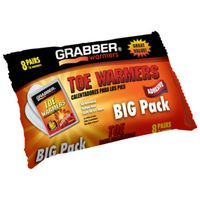 TOE WARMER ADHESIVE 6 HR 8PACK