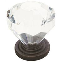 Amerock Traditional Classics 14303ORB Acrylic Round Crystal Cabinet Knob