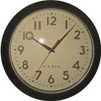 Westclox 32041AB Extra-Thick Retro Wall Clock
