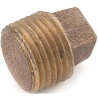 Anderson Metal 738114-06 Brass Pipe Plug