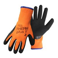 GLOVE LATEX CTD PALM ORANGE LG