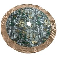 TREE SKIRT SNOWMAN CAMO 48IN