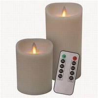 CANDLE IVORY REMOTE 2PK COMBO