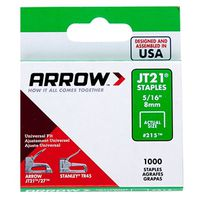 JT21 215 Flat Light Duty Crown Staple