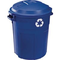 Rubbermaid 1792641 Roughneck Recycle Trash can With Lid