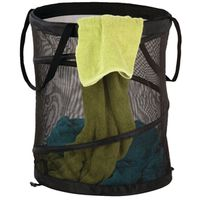 HAMPER MESH POP OPEN LRG BLK