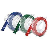 TAPE EMBOSS PVC 9MM X 3M ASST