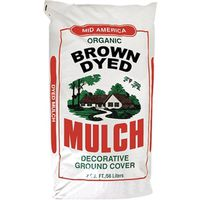 MULCH DYED BROWN 2 CUBIC FEET