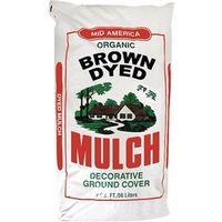 MULCH DYED BROWN 2 CUBIC FEET