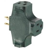 Leviton R07-00694-GRN Grounding Outlet Cube Adapter