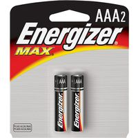 BATTERY MAX AAA ALKALINE 2PK