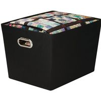 BIN STORAGE W/HANDLE LRG BLK