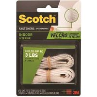 Scotch RF4710 Self-Stick Reclosable Fastener 18 in L x 3/4 in W