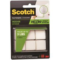 Scotch RF4720 Self-Stick Fastener Square 7/8 in L x 7/8 in W