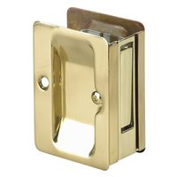LOCK POCKET DOOR PASSAGE BRASS