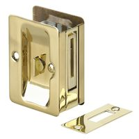 LOCK POCKET DOOR PRIVACY BRASS
