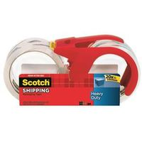Scotch 3850S-2-1RD Shipping Packaging Tape With Dispenser