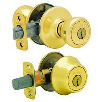 Kwikset Tylo 690T3RCLRCSK6BX Deadbolt Entry Knob Lockset