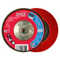 FLAP DISC 7IN 60G W/HUB