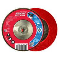 FLAP DISC 7IN 80G W/HUB