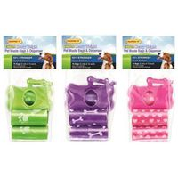 BAG DOG WASTE W/DISP 75CT