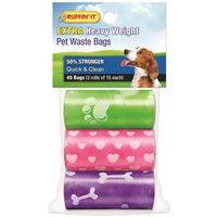 BAG DOG WASTE REFILL 45CT/3RLL