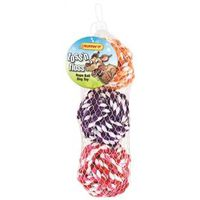 TOY PET ROPE-BALL 3CT