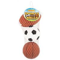 TOY PET SPORT BALL VINYL 3CT