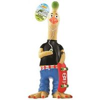 PET TOY MOHAWK RUBBER CHICKEN