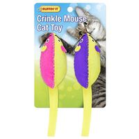MICE STUFFED CRINKLE FELT 2PK