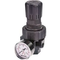 Tru-Flate 24-414 Compact Air Line Regulator with Pressure Gauge