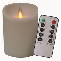 CANDLE 4IN HT MOVING FLAM IVRY