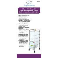 Homebasix G005-CH Storage Cart
