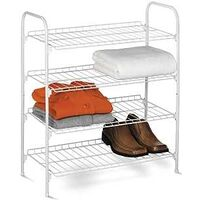 SHELF WIRE SHOE/ACC 4-TIER WHT