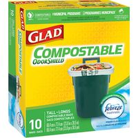 Glad Odour Guard 78163 Biodegradable Compostable Bag