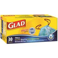 Glad Easy-Tie Kitchen Catchers 30151 Recycling Bag